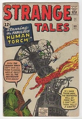 Strange Tales #101   1st Solo Human Torch    VG/FN