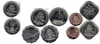 Bahamas: 5-Piece Uncirculated Coin Set, 1 To 25 Cents
