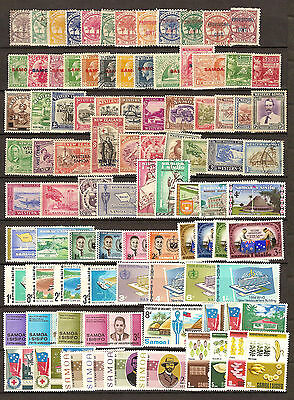 Small collection 250+ stamps from Samoa