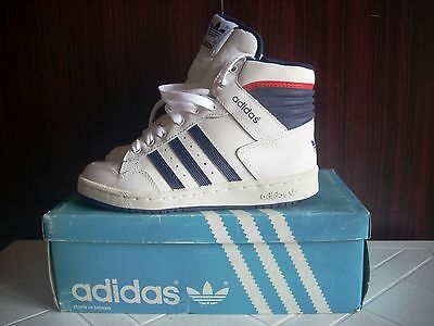 Deadstock Adidas Pro Conference Hi-C Basketball Sneakers Trainers 80 S35 Kid Vtg
