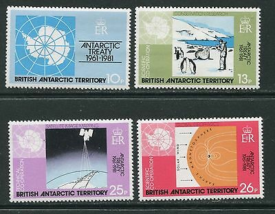 20th anniversary of the Antarctic Treaty stamps, 1981, SG 99-102, MNH