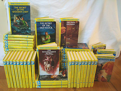 NANCY DREW HARDCOVER BOOKS COMPLETE COLLECTION 1-64 Hardback FREE P&P in the UK