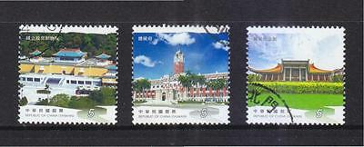Rep. Of China Taiwan 2013 Travel In Taiwan (Tourism Attractions) 3 Stamps Used