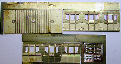 7mm scale Caledonian Railway 4 wl. 1st class carriage body etch by Decent Models