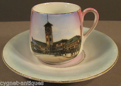 Portland Oregon Union Depot  Souvenir Cup Saucer - Made in Germany ~Early 1900s~