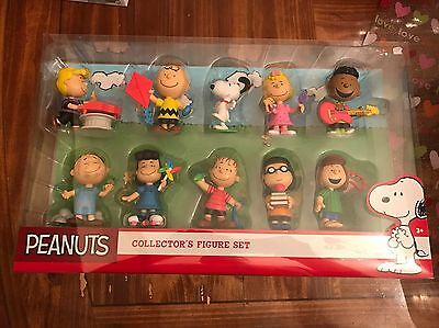 """Just Play Peanuts Collector's 3"""" 10 - Figure Set Charlie Brown Snoopy Linus Lucy"""