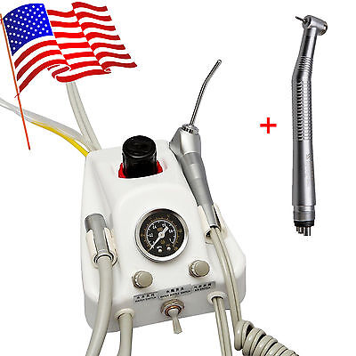 Portable Dental Air Turbine Deliver Unit& NSK Style High Speed Handpiece 4 holes