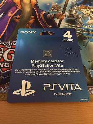 Official Genuine Sony Playstation PS Vita 4GB Memory Card / Stick -- Brand New -