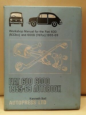 Fiat 600 & 600D,saloon & Multipla Autobooks Workshop Manual 1955-1969