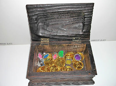 pirate chest + gold coins and rings.