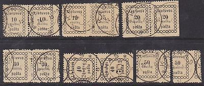 Lithuania 1918 Mi 3-8 Used (2 sets)