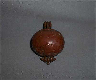 Antique Tibet Mongolia TOP HIGH AGED USED COPPER BUDDHIST GAU AMULET CONTAINER