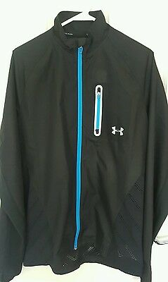 Under Armour - Max Vent Run Jacket - Black with Blue Trim RRP £80