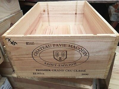 Wine Box Case Crate 12 Bottle French Chateau Pavie Macquin G1