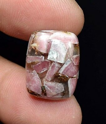 Excellent !  16.65  Cts. Natural Copper Rhodochrosite Cushion Cab For  Pendant