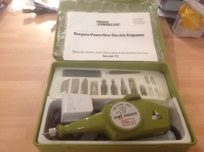 Boxed Burgess powerline two speed electric engraving kit
