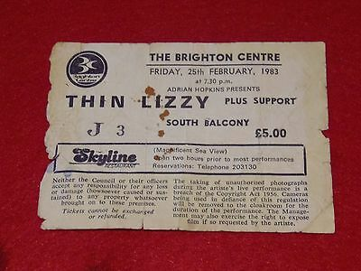 Thin Lizzy.used Ticket From The Brighton Centre 1983