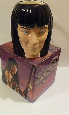Rare Xena Warrior Princess LUCY LAWLESS Large Figural Face Mug/ Cup 1998
