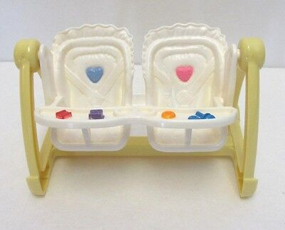 Vintage Fisher Price Loving FamilyTwin Time Double Swing Doll House Furniture