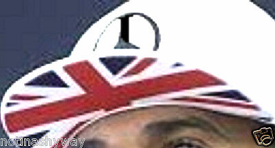 Union Jack Flag Under Brim Peace Sign Cap CND Sports F1 Hat Motor Lewis Hamilton