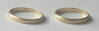 14k SOLID YELLOW GOLD MAN'S RING WEDDING BAND SIZE 11 - 2gr