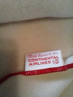 """1960's Continental Airlines Blanket Faribault Mills Throw 45""""x60"""""""