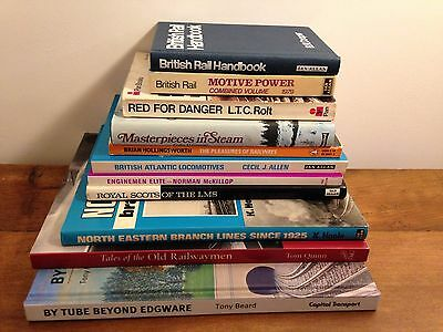 Job lot of 11 Railway, train books