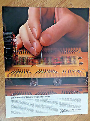1965 Bell Telephone Western Electric Ad Electronic Memory Device