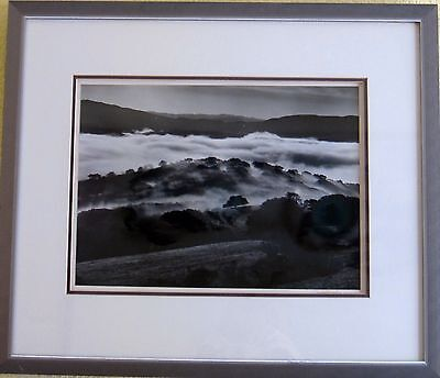 """DAVID MUENCH - GELATIN SILVER PRINT """"1970's""""  SIGNED, MOUNTED, FRAMED"""