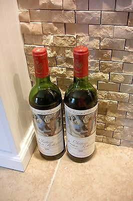 1973 Chateau Mouton Rothschild Wine Bottle Picasso Artist Label 2 Bottles