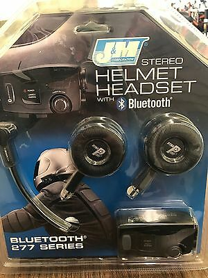 J&m 277 Series Bluetooth  Headset For Open Face 3/4 Motorcycle Helmet New