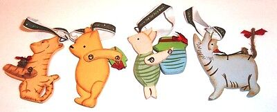 Winnie the Pooh CLASSIC POOH Set of 4 Wooden Christmas Ornaments