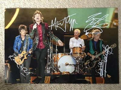 THE ROLLING STONES (Jagger, Watts, Richards & Wood) signed autograph photo COA