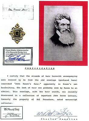John Brown - Genuine Piece of Brown's Hair With Documentation