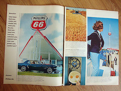 1965  Phillips 66 Oil Ad  6 Pages   Ford Mustang