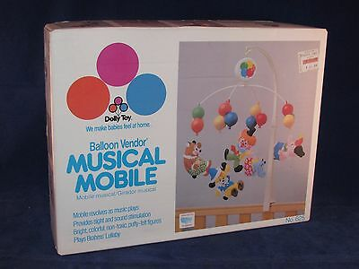 Dolly Toy Balloon Vender Musical Mobile # 625 With Box