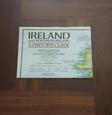 National Geographic MAP IRELAND Northern Historic, A Visitor Guide APRIL 1981