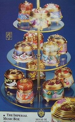 Faberge 7 Imperial Music Boxes 3 New in Box 4 Used Cost $483 in 1991 $69 Each