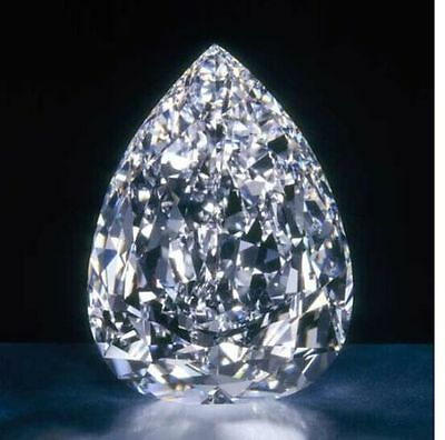 12.00 Ct Huge  Loose White  Pear sapphire 10x14mm gemstone on ebay. No.3