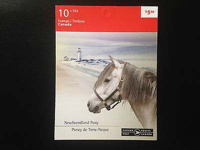Canada BK403 #2329-2330, Canadian Horses Booklet of Stamps 2009
