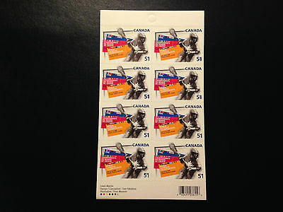 Canada BK331 #2161, World Lacrosse Championships Booklet of Stamps 2006