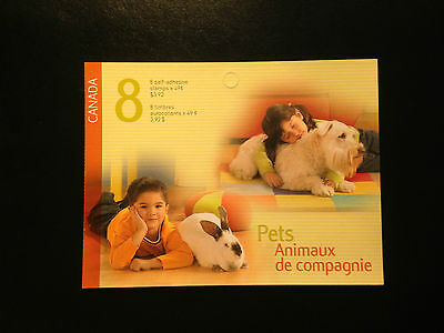 Canada BK297 #2057-2060, Pets Booklet of Stamps 2004