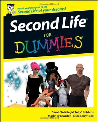 Second Life For Dummies by Bell, Mark Paperback Book The Cheap Fast Free Post