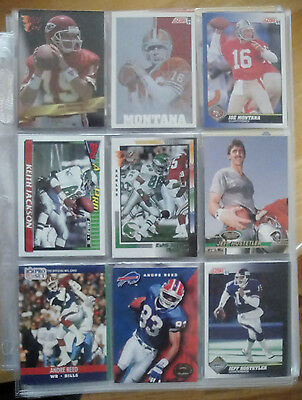FOOTBALL CARDS 31 SHEETS (approx. 279) - BIG NAMES, ALL MAKES OVER SEVERAL YEARS