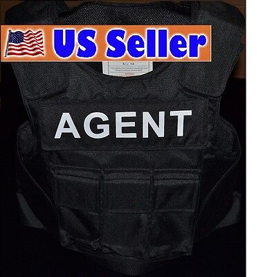 AGENT TAG // 3A SIZE XL Body Armor Bullet Proof / Stab Proof  Vest NEW!!!