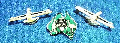 Australian Women's Bowling Club Member Badge & Lapel Pins