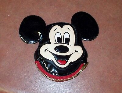 Vintage Walt Disney Mickey Mouse zipper coin purse with squeaker