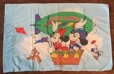 Vintage Mickey Mouse Air Mobile Pillowcase Pillow Case Fabric Chip n' Dale