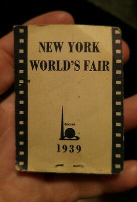New York Worlds Fair 1939 Flip Book, With Advertising Great Vintage Piece