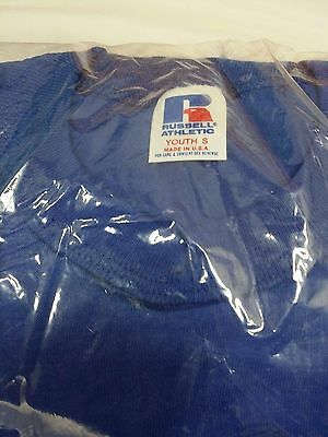 Vintage Youth Small Royal Blue Sealed 6-pack Russell Athletic T-Shirts